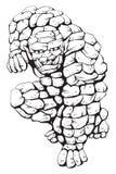 Monstro de pedra Ilustração Royalty Free