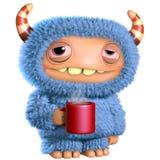 monstro do azul dos desenhos animados 3d Fotos de Stock