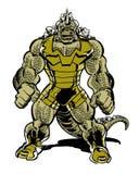 Monstro do caráter da banda desenhada do réptil com cauda Fotografia de Stock Royalty Free