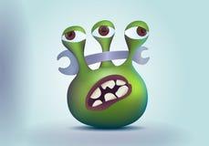 Monstro do estrangeiro de três olhos Fotografia de Stock Royalty Free