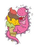 Monstro do gelado Foto de Stock Royalty Free