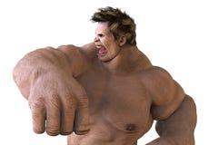 monstro do gigante da ilustração 3D Fotos de Stock