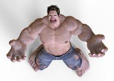 monstro do gigante da ilustração 3D Imagens de Stock Royalty Free