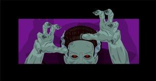 Monstro do projeto do traje de Dia das Bruxas da noiva de Frankenstein ilustração do vetor