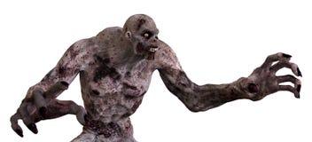 monstro do zombi da ilustração 3D Foto de Stock