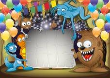 Monstro dos desenhos animados ilustração royalty free