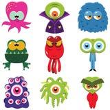 Monstro dos desenhos animados ajustados Imagens de Stock Royalty Free