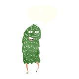 monstro dos desenhos animados com bolha do discurso Imagem de Stock