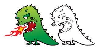 Monstro dos desenhos animados do vetor Fotografia de Stock