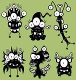Monstro dos desenhos animados, goblins, fantasmas Imagens de Stock