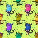 Monstro dos desenhos animados sem emenda Imagens de Stock Royalty Free