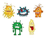 Monstro e demônios dos desenhos animados ajustados Fotografia de Stock