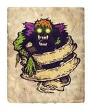 Monstro e fita velha ilustração royalty free