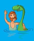 monstro e homem ilustração do vetor