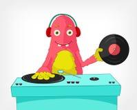 Monstro engraçado. DJ. Imagens de Stock