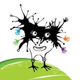 Monstro engraçado preto Imagem de Stock Royalty Free