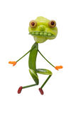 Monstro engraçado feito de vegetais verdes Imagem de Stock Royalty Free