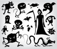 Monstro, fantasmas e o Reaper desagradável Fotografia de Stock Royalty Free