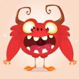 Monstro feliz dos desenhos animados Foto de Stock