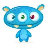 Monstro feliz dos desenhos animados Fotografia de Stock Royalty Free