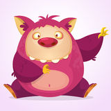 Monstro feliz dos desenhos animados Caráter do vetor Foto de Stock Royalty Free