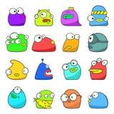 Monstro incomuns dos desenhos animados engraçados Foto de Stock