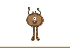 Monstro marrom bonito feliz Fotografia de Stock Royalty Free