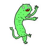 monstro pequeno bruto dos desenhos animados cômicos Fotos de Stock Royalty Free
