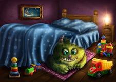 Monstro verde Fotos de Stock Royalty Free