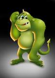 Monstro verde ilustração royalty free