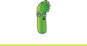 Monstro verde bonito furado Foto de Stock Royalty Free
