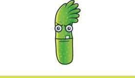 Monstro verde bonito furioso Foto de Stock
