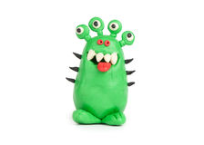 Monstro verde do plasticine Foto de Stock Royalty Free