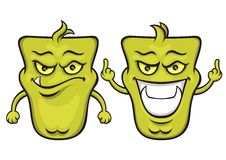 Monstro verde dos desenhos animados Fotos de Stock