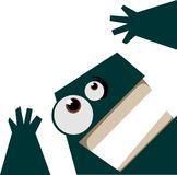 Monstro verde gritando ilustração do vetor