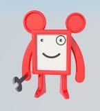 Monstro vermelho com chave Ilustração Royalty Free