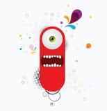 Monstro vermelho dos desenhos animados ilustração royalty free