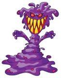 Monstro violeta assustador Fotografia de Stock Royalty Free