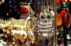 The monstrous owl pendant Royalty Free Stock Photography
