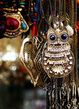 The monstrous owl pendant Stock Images
