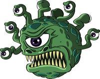 Monstruo aislado del espectador Fotografía de archivo libre de regalías
