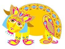 Monstruo amarillo Foto de archivo libre de regalías