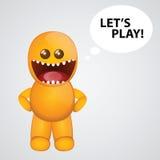 Monstruo anaranjado divertido Imagen de archivo libre de regalías