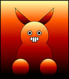 Monstruo asustadizo del conejito. stock de ilustración