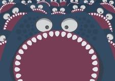 Monstruo azul con ataque de los dientes agudos libre illustration