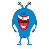 Monstruo azul lindo del vector en blanco ilustración del vector