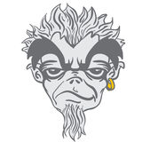 Monstruo barbudo extraño stock de ilustración