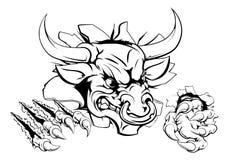 Monstruo de Bull que rompe a través de la pared Fotos de archivo libres de regalías