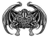 Monstruo de Cthulhu ilustración del vector
