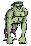 Monstruo de Frankenstein de la historieta Foto de archivo